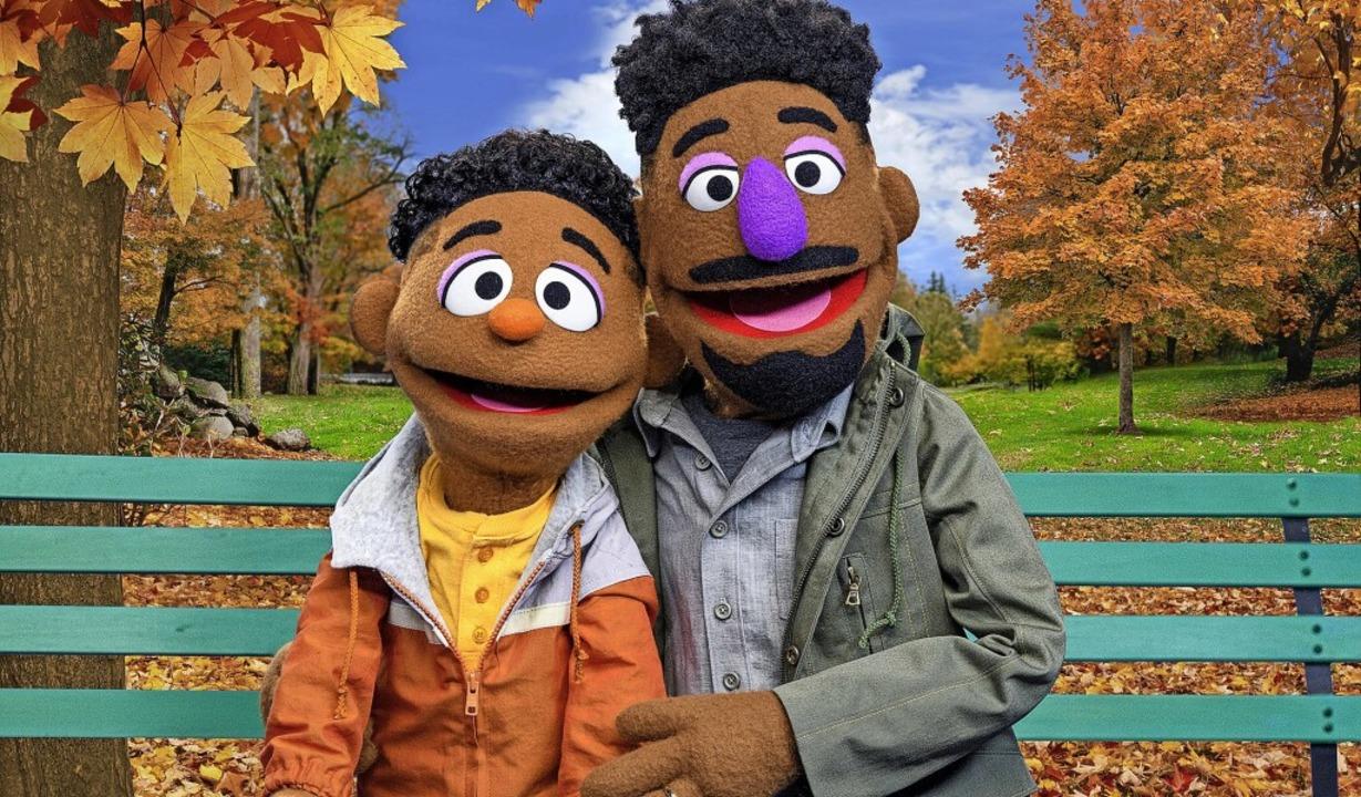 Neuzugänge in der Sesamstraße: Wes und sein Vater Elijah   | Foto: Zach Hyman (dpa)