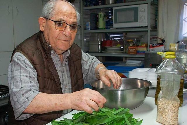 Für den Rheinfelder Koch Enzo Marinelli kommt mit dem Bärlauch der Frühling