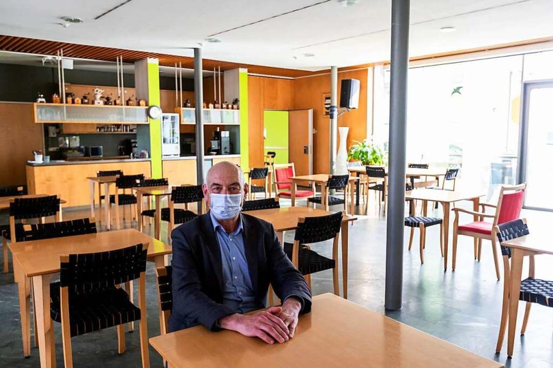 Wolfram Uhl, Geschäftsführer und Heiml...feeMühle des Seniorenzentrum Mühlehof.  | Foto: Philipp von Ditfurth (dpa)