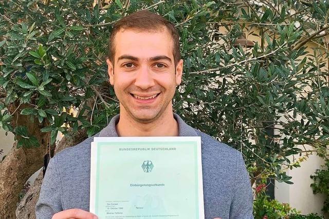 Ein Emmendinger Israeli besitzt nun auch den deutschen Pass