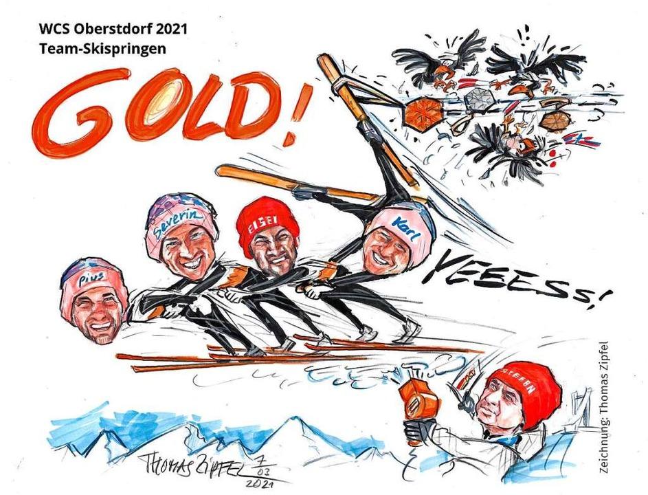 Zu Stefan Horngachers größten Erfolgen...warzwälder Cartoonisten Thomas Zipfel.  | Foto: Thomas  Zipfel