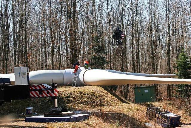Drei Windräder sind abgebaut