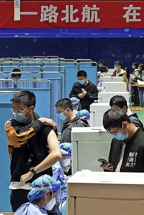 Impfzentrum in  Peking  | Foto: Xu Qin (dpa)