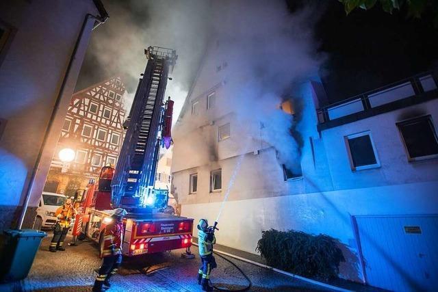 Nach Brandnacht in Marbach bleibt Motiv vor Gericht noch unklar