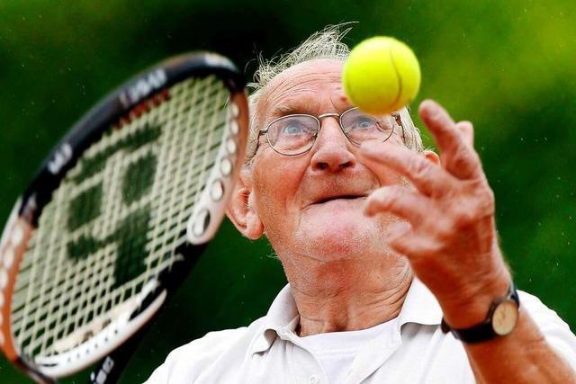 Tennis kann man ein Leben lang auf Wettkampfniveau spielen