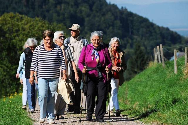 Erst laufen dann einkehren – die Wandergruppe Spätlese