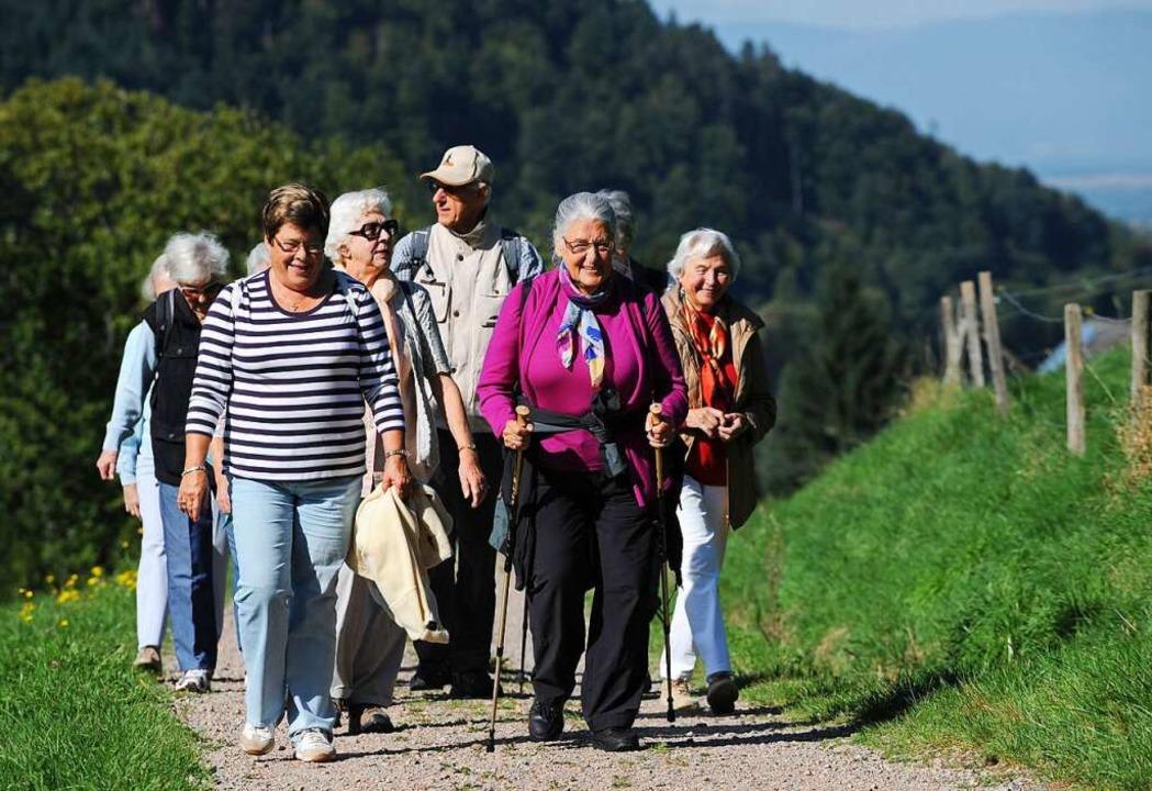 Gemeinsam wandern und dann schön einke... diese Idee hält die Gruppe zusammen.   | Foto: Patrick Seeger