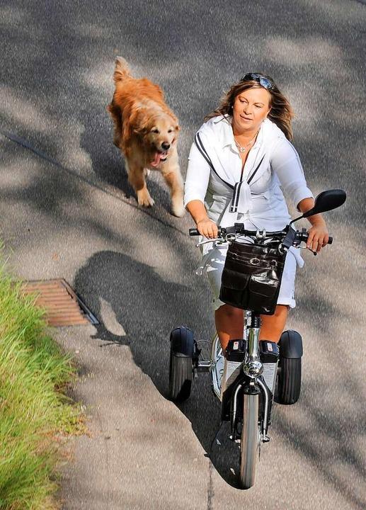 Esther Weber,  eine frühere Behinderte...alter möglichst mobil bleiben wollen.   | Foto: Michael Heuberger