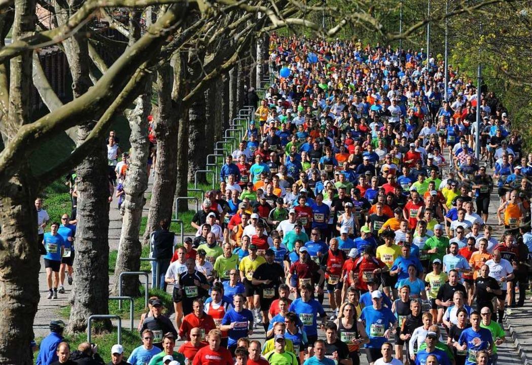 Laufen – wie hier beim Freiburg-...en BZ-Leserinnen und -Lesern beliebt.     Foto: Patrick Seeger