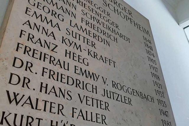 Umgang mit dem Jutzler-Erbe in Schopfheim: Erinnern ist Verpflichtung