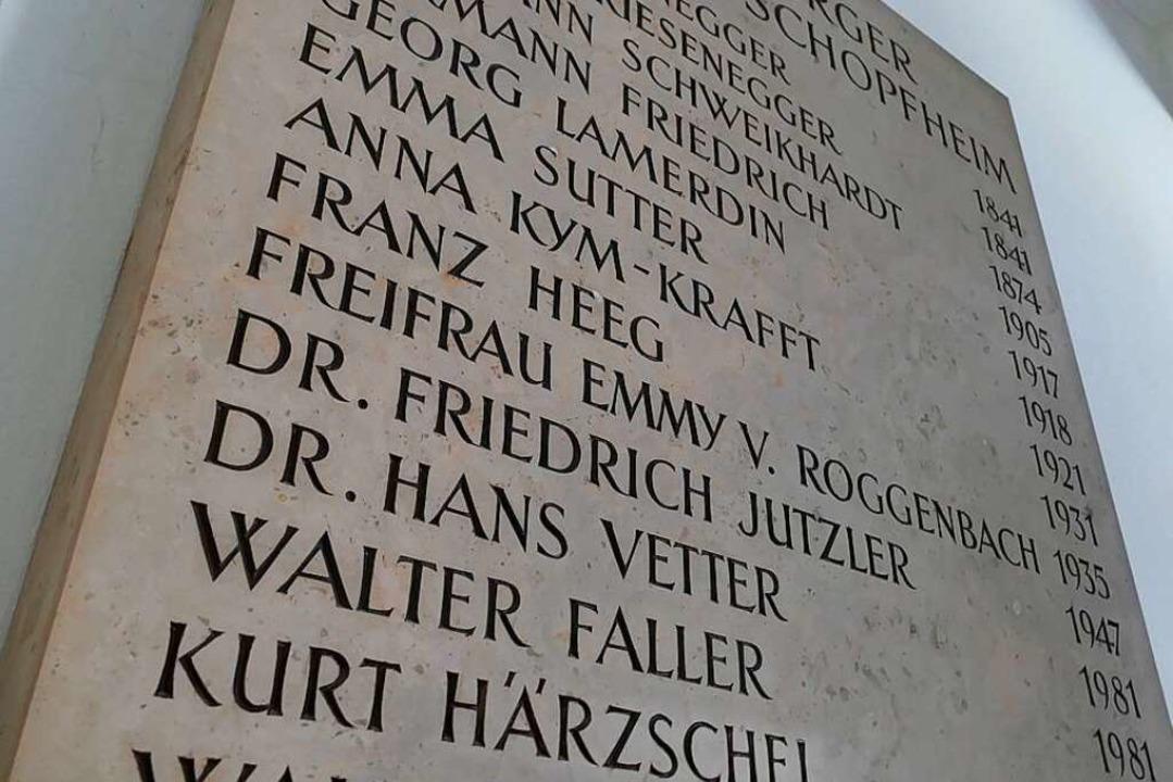Der Eintrag von Friedrich Jutzler  auf...e Taten in der NS-Zeit ergänzt werden.  | Foto: André Hönig