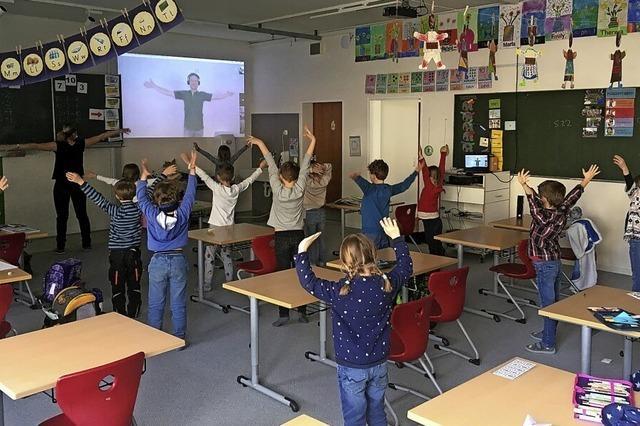 Bewegungspausen an der Zweitälerland-Grundschule