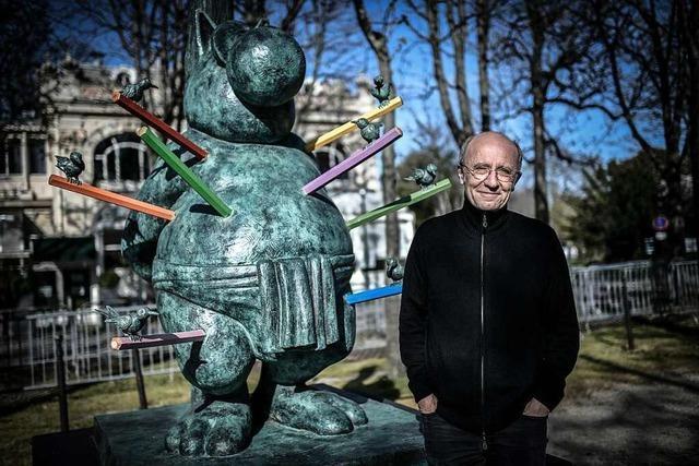 Philippe Gelucks Bronze-Skulpturen auf den Champs-Élysées