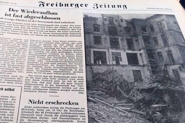 Selbst 1971 gab es in Freiburg noch Trümmergrundstücke