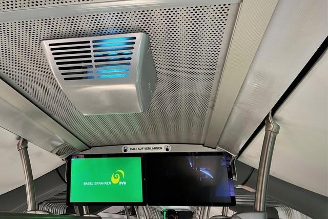 Basler Verkehrsbetriebe testen Desinfektionssystem für Busse und Bahnen