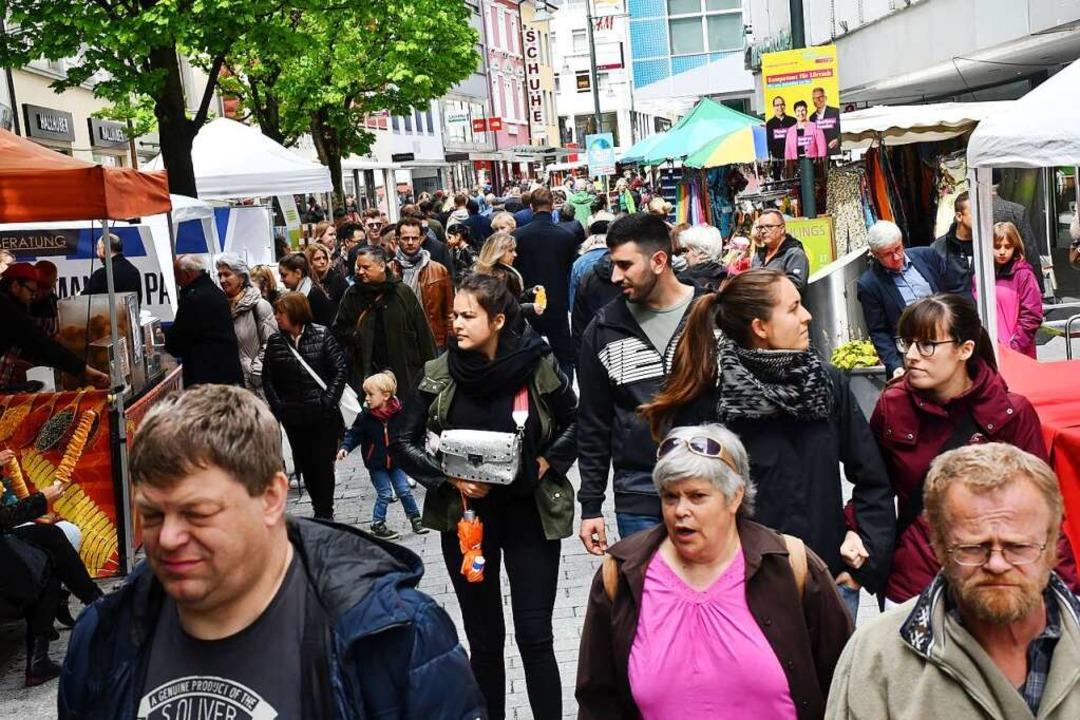 Das bislang letzte Frühlingsfest in Lörrach fand 2019 statt.  | Foto: Barbara Ruda