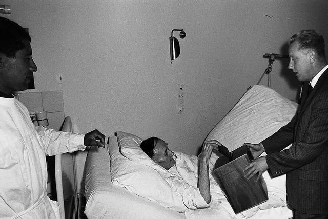 Bei der Bundestagswahl 1965 wurde auch vom Krankenbett aus gewählt