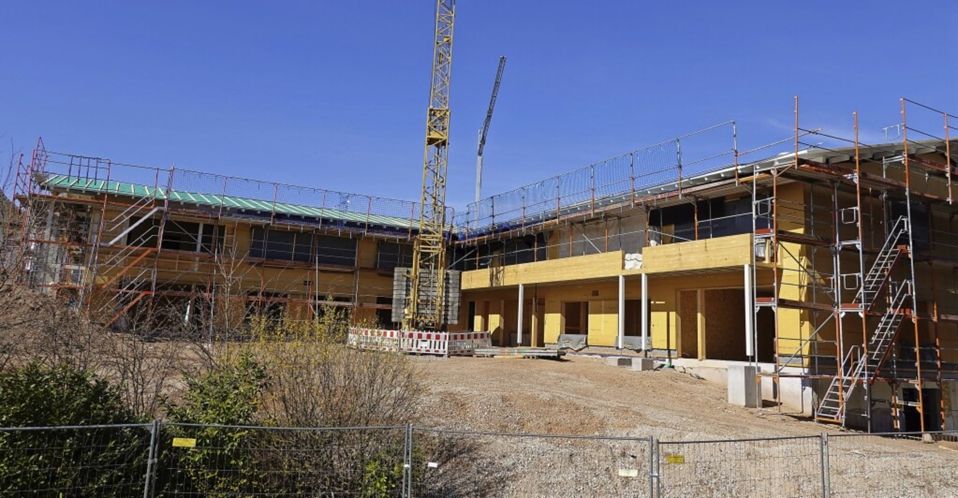 Weit fortgeschritten ist der Neubau des Kindergartens in Görwihl.  | Foto: Hans-Jürgen Sackmann