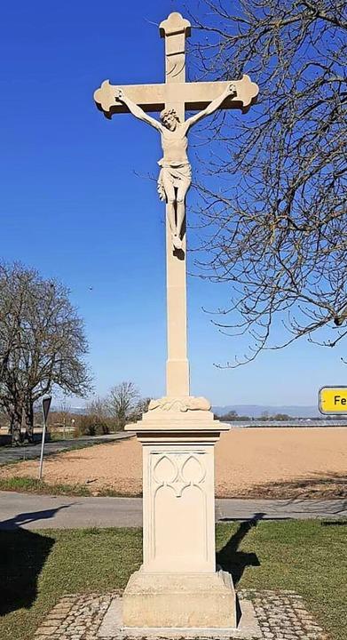 Das restaurierte Ortskreuz in Tunsel  | Foto: Brigitte Winterhalter