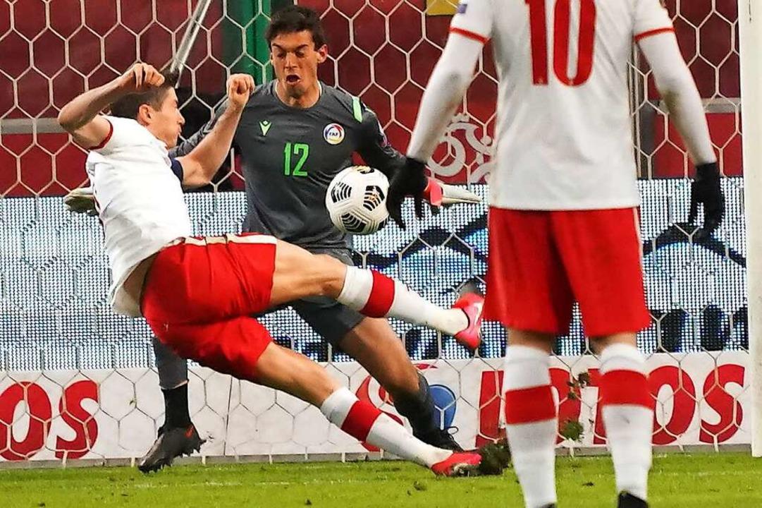 Lewandowski fällt aus.  | Foto: JANEK SKARZYNSKI (AFP)
