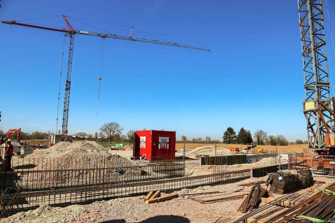 Die Baustelle des neuen Bürgerhauses in Kippenheim    Foto: Sandra Decoux-Kone