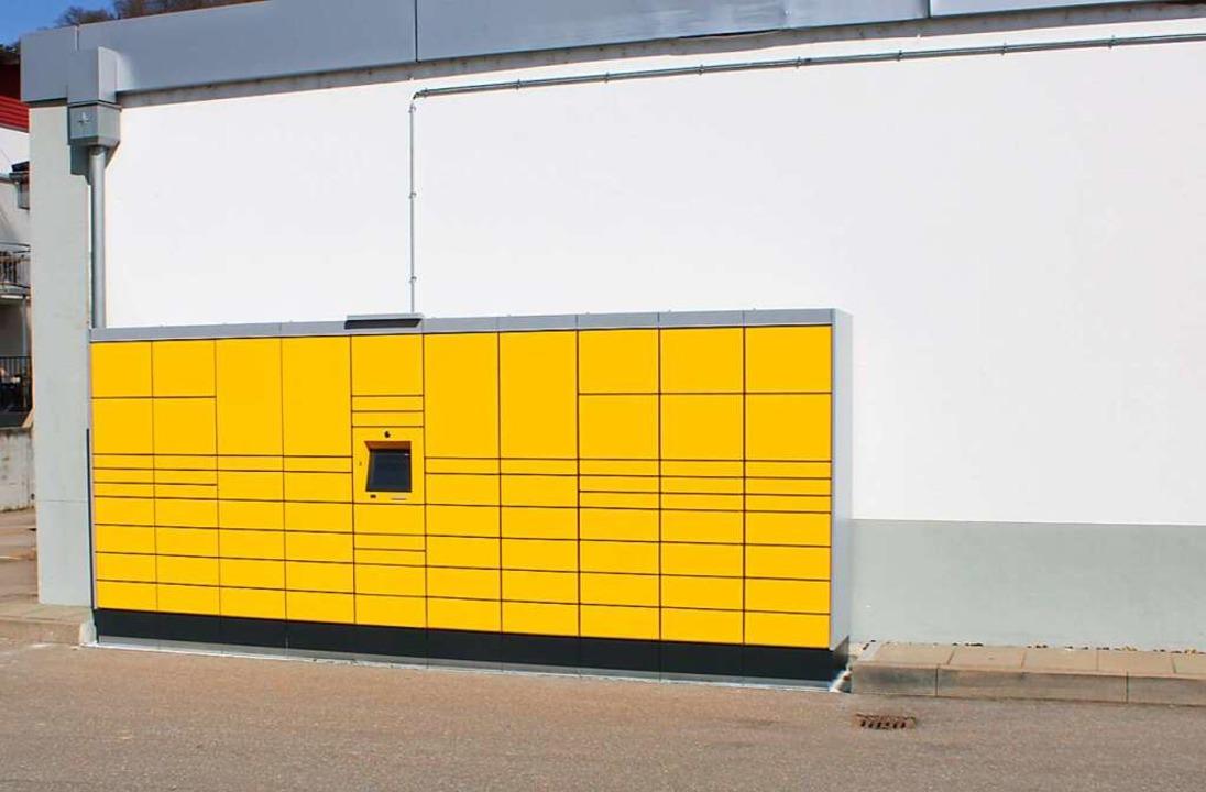 Die Paketstation beim Lidl-Markt  | Foto: Rolf Reißmann