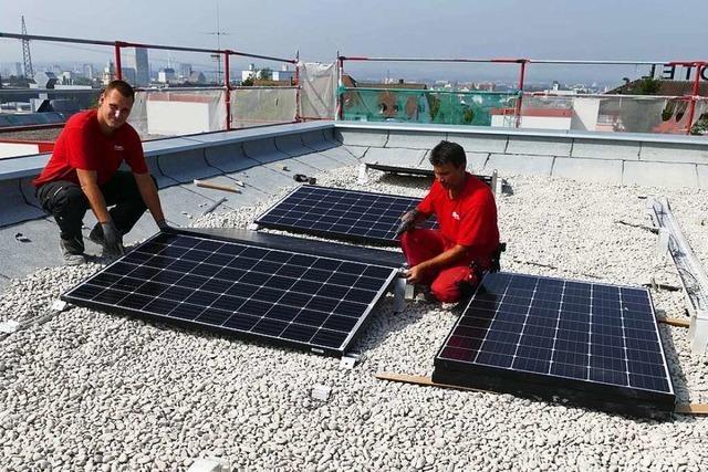 In Weil am Rhein wurden im vergangenen Jahr 47 neue Solaranlagen installiert