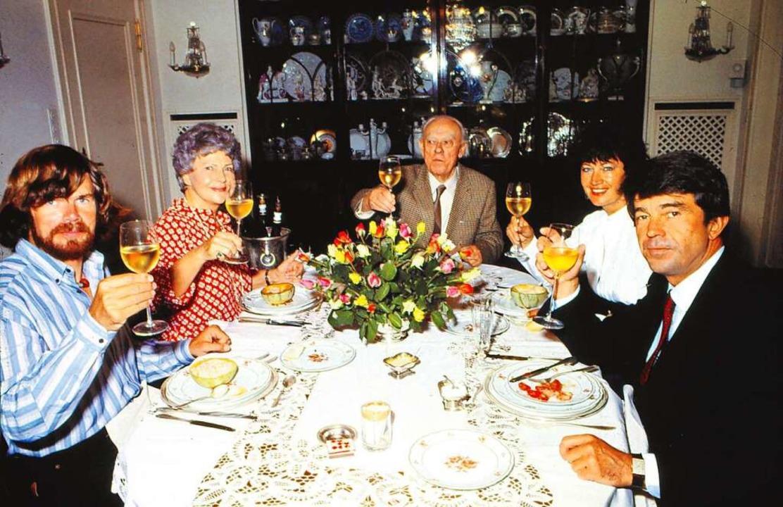 Die Gastlichkeit der Burdas genossen F...efrau  und Frieder  Burda (von links).  | Foto: o. A.