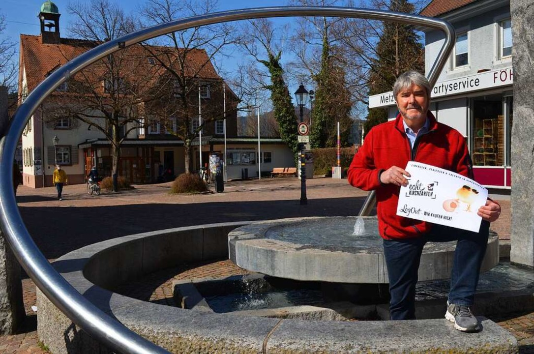 Dietmar Junginger hofft auf viele Gutschein-Käufer.  | Foto: Nikola Vogt
