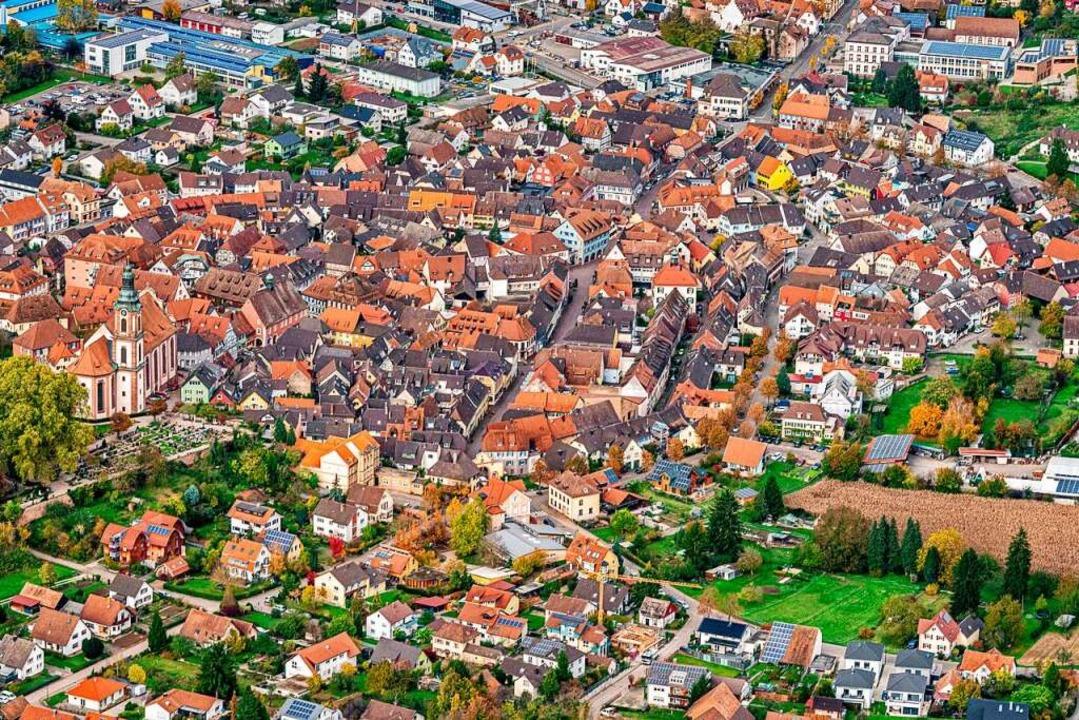 Die Ettenheimer Altstadt aus der Vogelperspektive  | Foto: Martin Bildstein