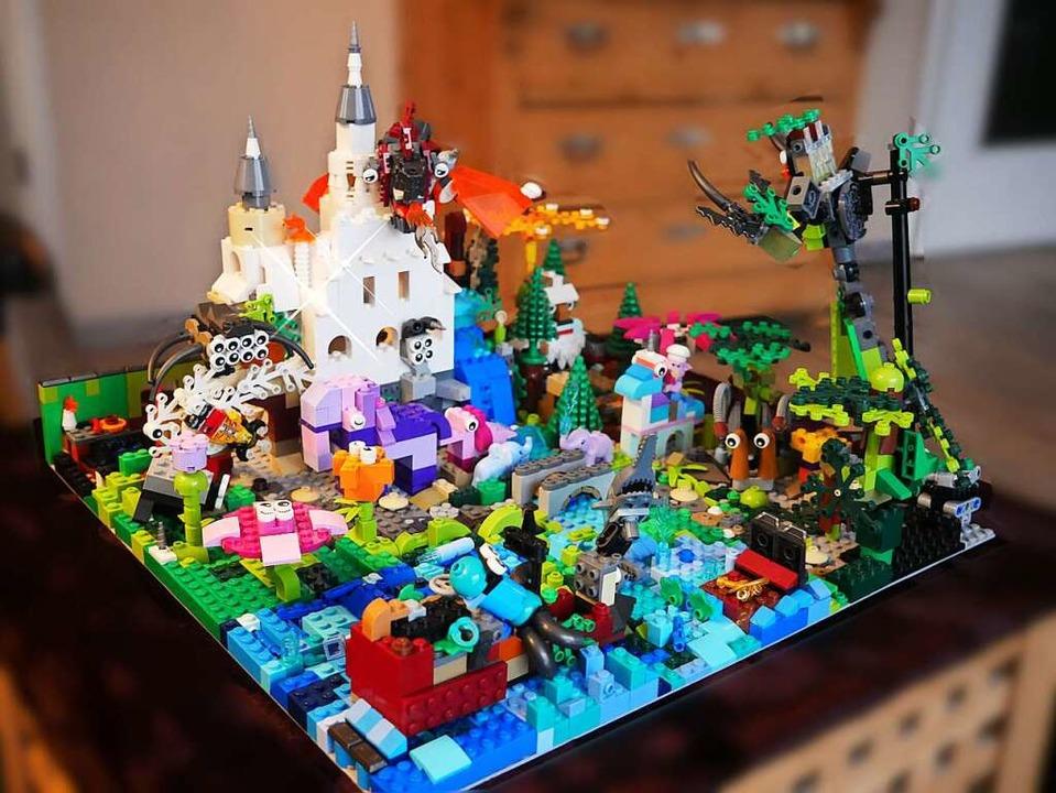 Mit der Fantasiewelt Elha haben die  K...eim Lego-Familienwettbewerb geschafft.    Foto: Eva Korinth