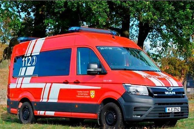 Feuerwehr-Großeinsätze im Kreis Lörrach werden künftig mit Zeller Leitwagen koordiniert