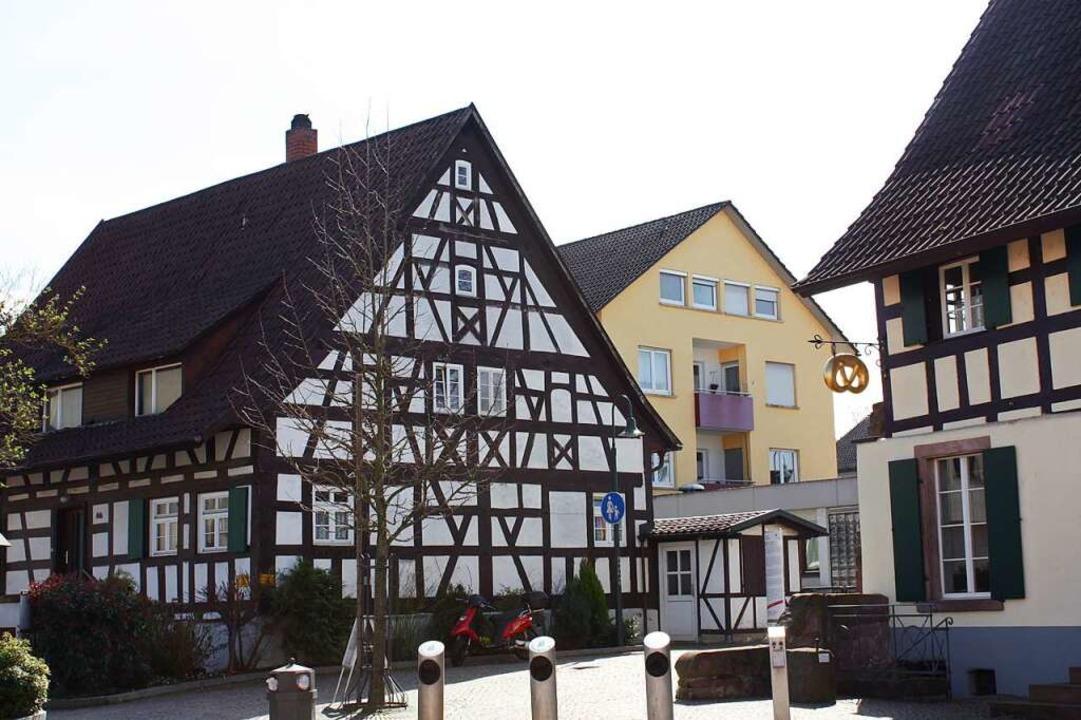 Fachwerkhaus hinter dem Englerbeck Huus in Gundelfingen.  | Foto: Gabriele Fässler