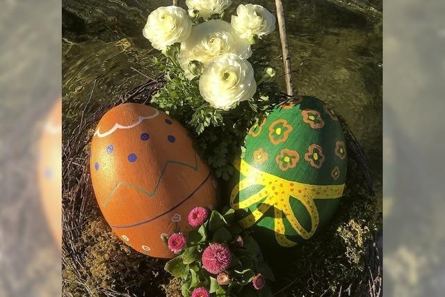 Geschmückte Brunnen zu Ostern