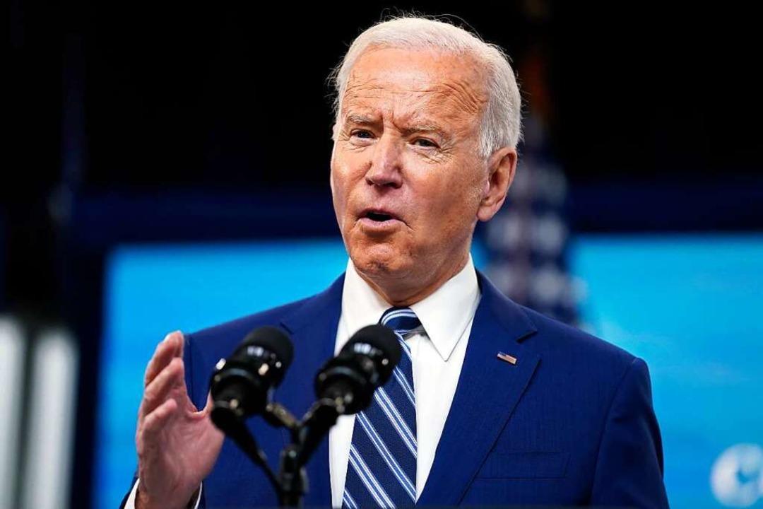 Joe Biden sieht in der Krise auch die Chance.  | Foto: Evan Vucci (dpa)