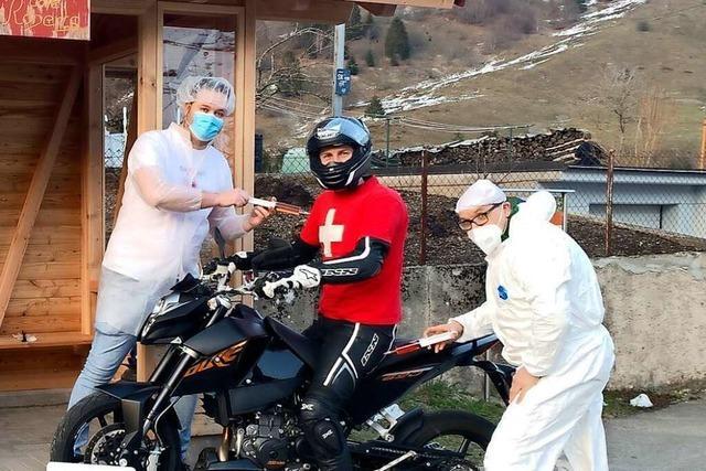In Todtnau-Präg eröffnet ein Drive-in-Impfzentrum für Motorradfahrer