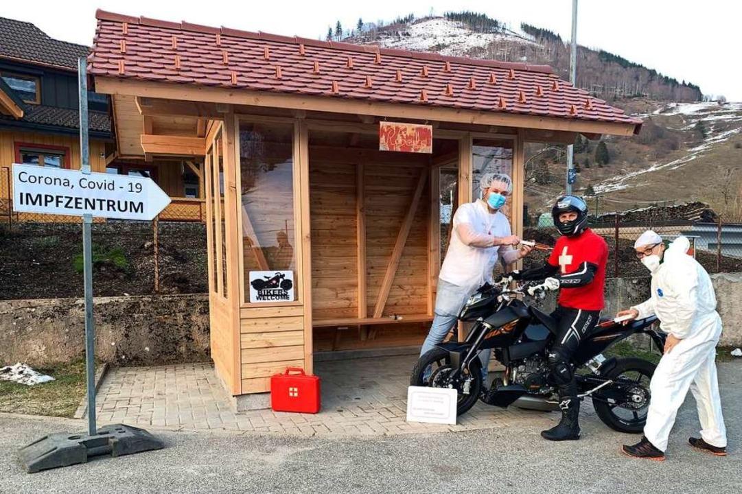 Ein erster Probedurchlauf beim neuen I... für Motorradfahrer ist gut verlaufen.    Foto: Leonie A.