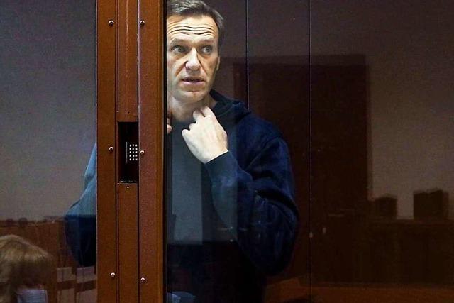 Kremlgegner Nawalny tritt in den Hungerstreik