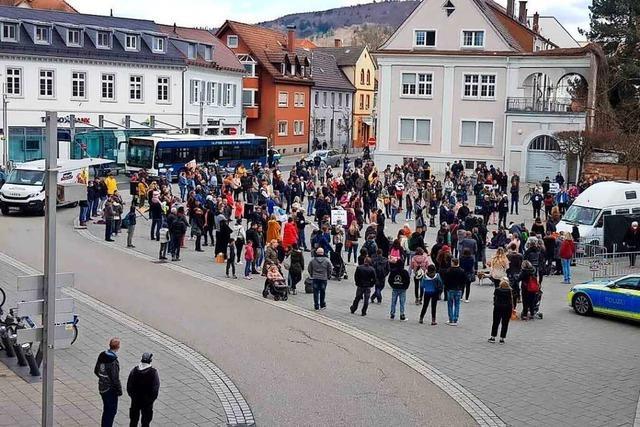Polizei sagt, bei Demonstrationen in Lahr gab es