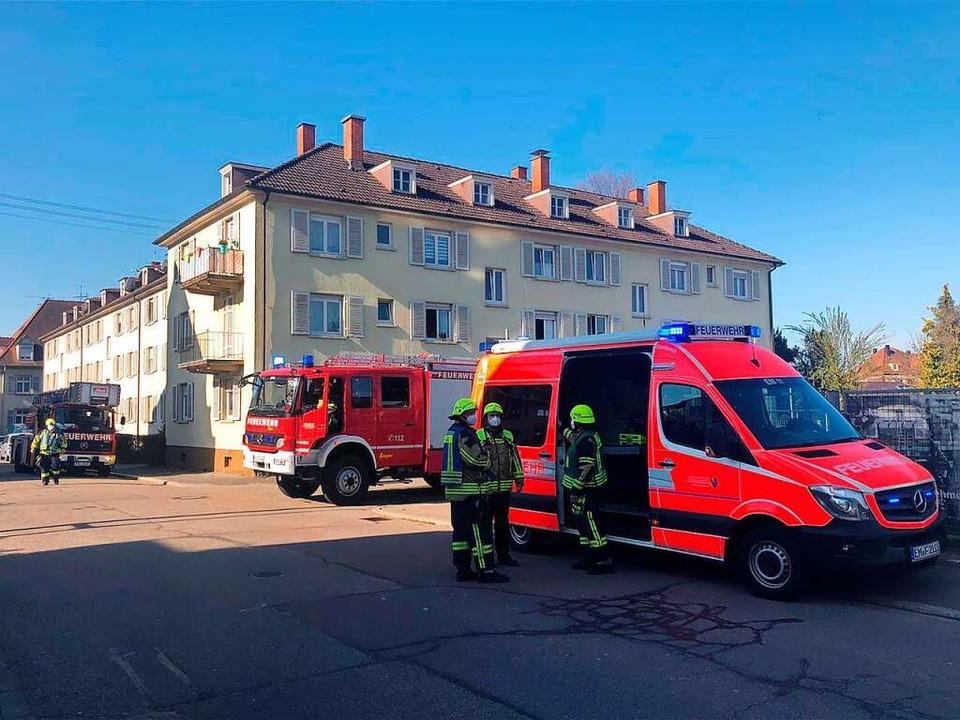 Am Vormittag des Gründonnerstag musste...satz in der Schlosserstraße ausrücken.  | Foto: Feuerwehr Emmendingen