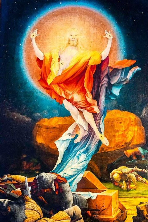 So sah Matthias Grünewald am Isenheimer Altar die Auferstehung Christi.  | Foto: imageBROKER/Martin Jung