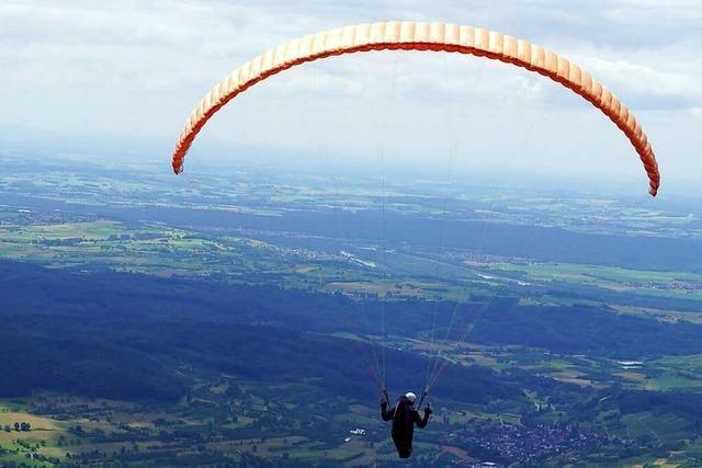 Für Gleitschirmflieger gibt es in Malsburg-Marzell einen neuen Landeplatz