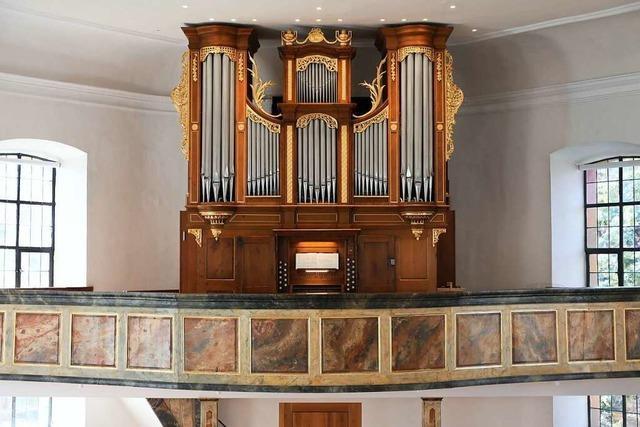 Die alte Orgel in der Kirche von Allmannsweier klingt wieder wie neu