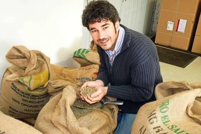 Der Jechtinger Marco Burkhart hat auf dem Weingut seiner Eltern eine Kaffeemanufaktur eingerichtet