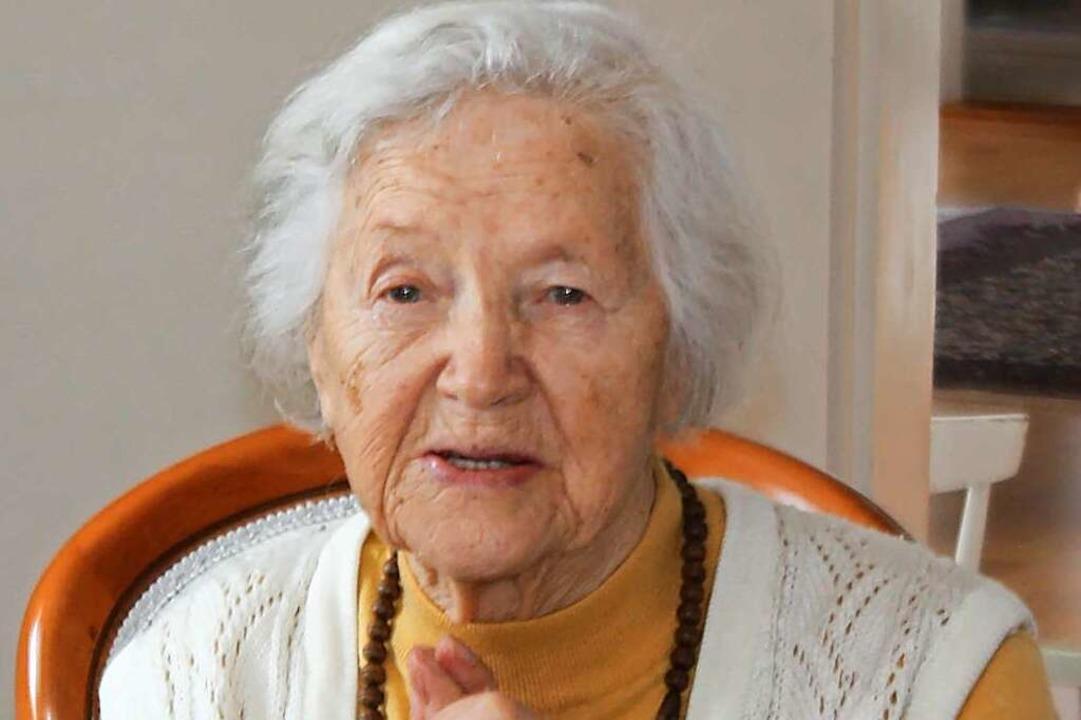 Agnes Alleweldt hat in einhundert Lebensjahren viel gesehen.  | Foto: privat