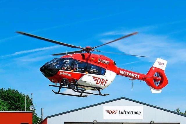 Per Hubschrauber ins Krankenhaus: Motorradfahrer bei Unfall schwer verletzt