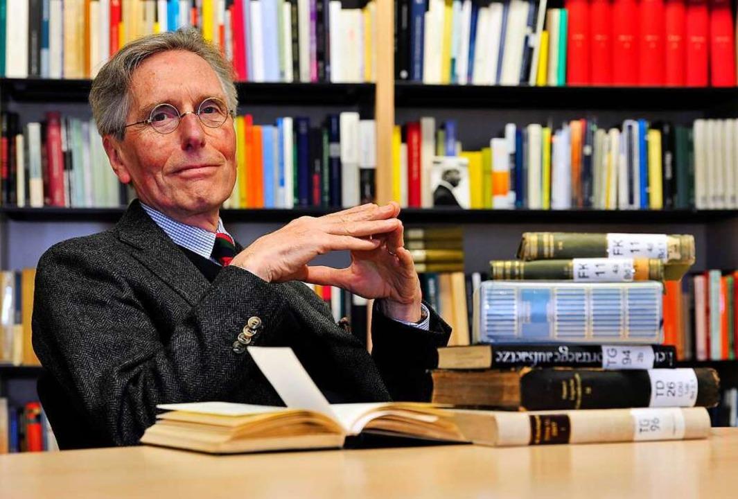 Der Gedanken-Streuner: Auch Raum und R...en, meint der Philosoph Günter Figal.   | Foto: Thomas Kunz