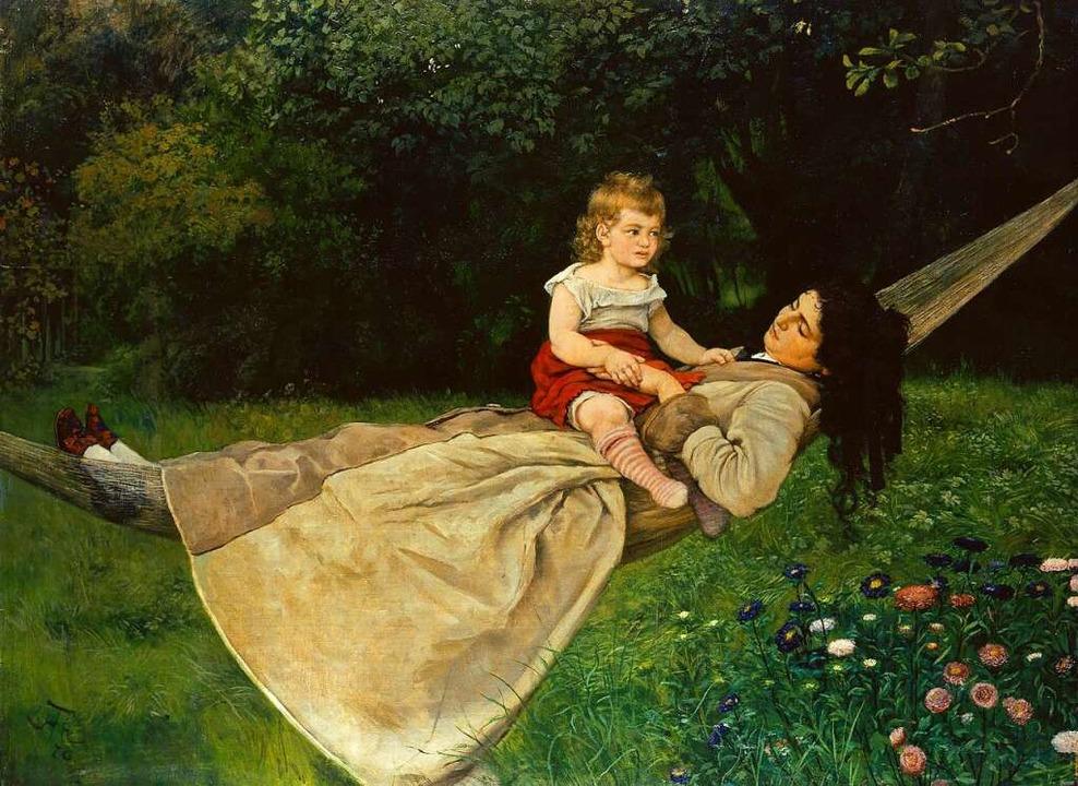 Hans Thoma, Frau mit Kind in der Hängematte (Ausschnitt), 1876  | Foto: Städel Museum/ARTOTHEK