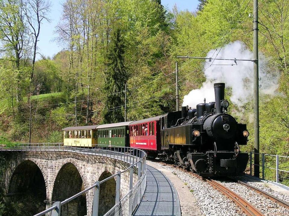 Lokomotive Todtnauerli Blonay-ChambyHe...lonay-Chamby oberhalb des Genfersees.   | Foto: Sebastien Jarne