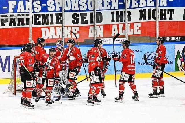 EHC Freiburg gewinnt hart umkämpftes Match gegen Crimmitschau mit 2:0